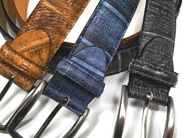 Cintura in vera pelle di anguilla lavorata a mano