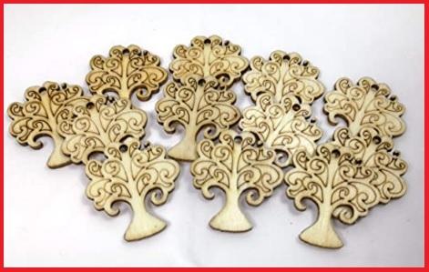 Ciondoli in legno da decorare