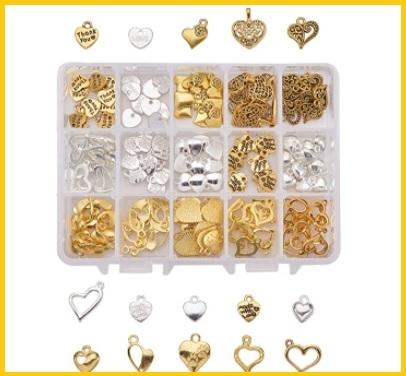 Ciondoli per orecchini dorati