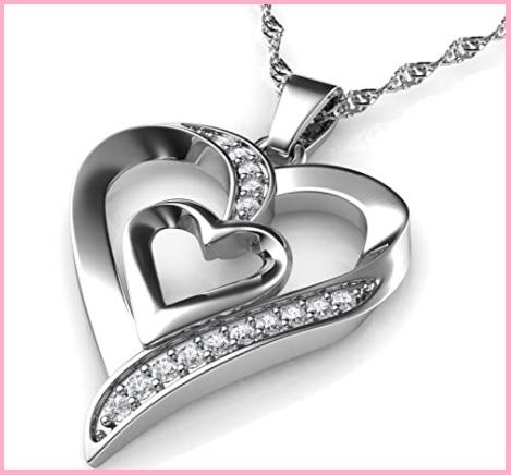 Ciondolo cuore argento