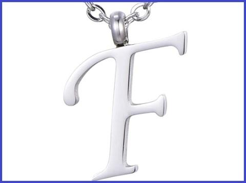 Ciondolo Lettera F