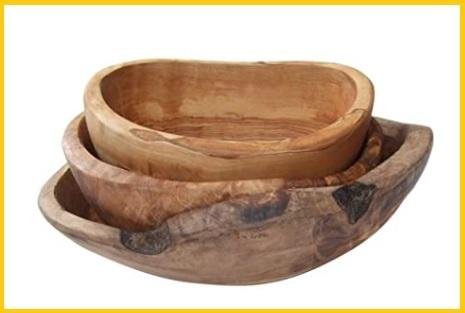 Ciotola in legno di ulivo
