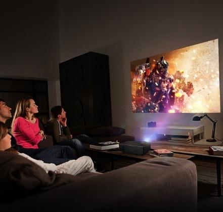 Proiettore lcd home cinema video smartphone