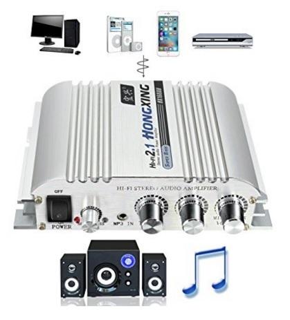 Amplificatore per auto o casa per ascoltare la musica