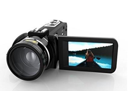 Videocamera portatile andoer hdv con obiettivo grandangolare