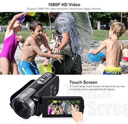 Videocamera andoer schermo lcd portatile e digitale