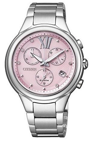 Citizen crono eco drive sfondo rosa elegante