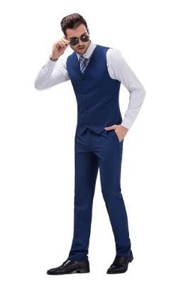 Abbigliamento elegante slim fit da uomo con blazer