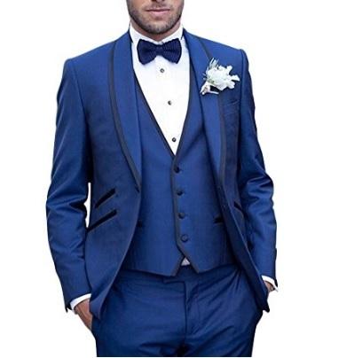 Abito nuziale per uomo blu acceso