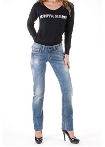 Jeans clink london per donna dal colore blu