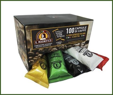 100 capsule nespresso gusti assortiti