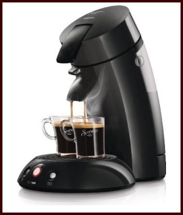 Macchina tecnologica per caffè nera philips