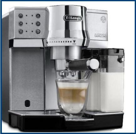 Macchina espressa per caffè e cappuccini