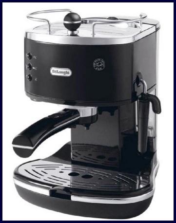 Macchina per caffè de longhi nera