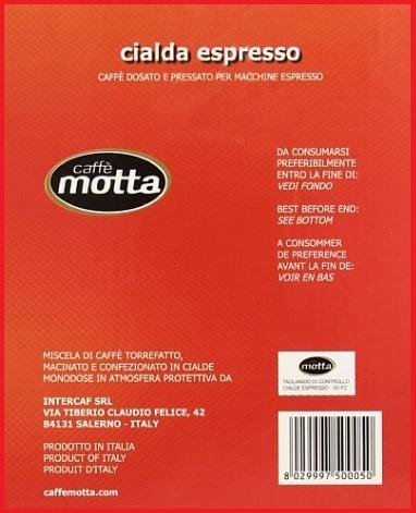 Cialde caffè monodose motta
