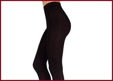 Collant calze lana nere