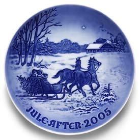Collezionismo Piatti Sfondo Blu In Porcellana 2005