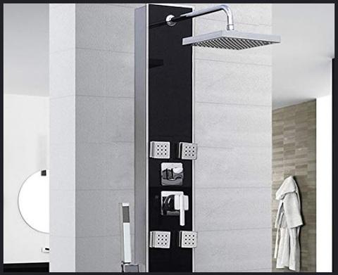 Colonna doccia con soffione a led grandi sconti colonna doccia