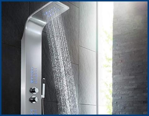 Colonna doccia con soffione grande