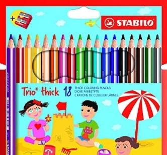 Colori a matita triangolari