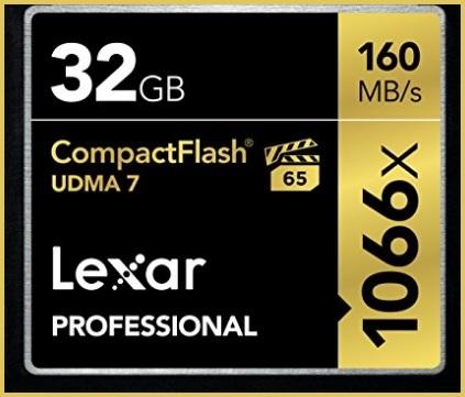 Compact flash 32gb lexar professional