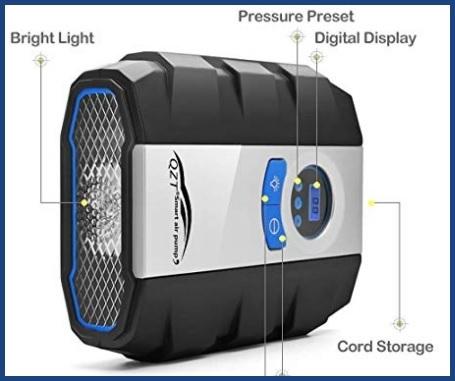 Compressore aria portatile professionale auto