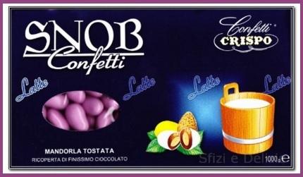 Confetti rosa snob crispo ricoperti di cioccolato