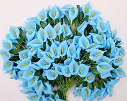 Fiori portaconfetti blu