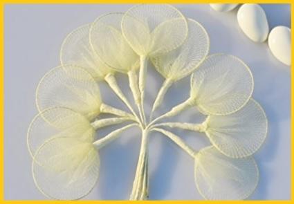Portaconfetti fiore tulle