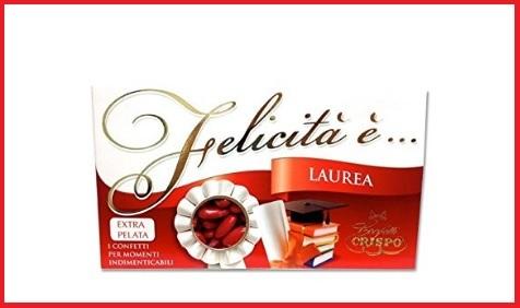 Confetti Laurea Mandorla Rossi