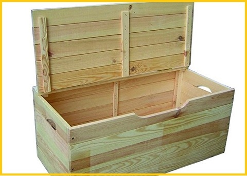 Contenitore cassapanca interno legno