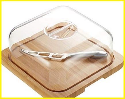 Contenitore formaggio legno bambù