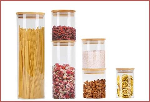 Contenitori in vetro borosilicato per alimenti
