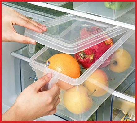 Contenitori alimenti frigo organizer