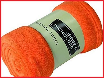 Coperta pile arancione