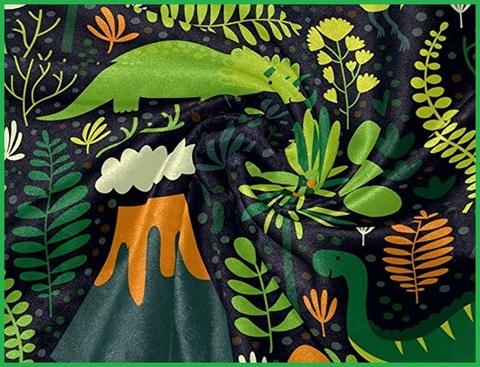 Coperta pile dinosauri letto singolo