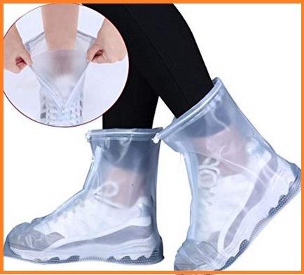 Copriscarpe pioggia trasparenti