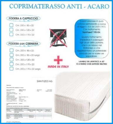 Coprimaterasso Antiacaro In Cotone 2 Piazze