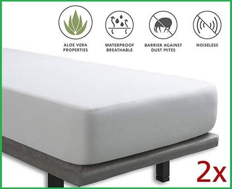 Coprimaterasso impermeabile 90x200 cm cotone top