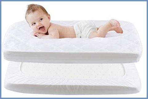 Coprimaterasso impermeabile lettino neonato