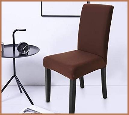 Coprisedie Schienale Elasticizzato Marrone Design