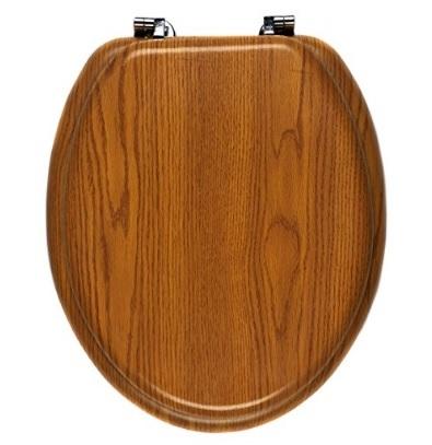 Copriwater in legno di rovere e pvc con sfumature