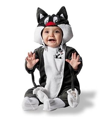 Costume di carnevale baby looney tunes gatto silvestro