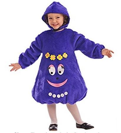 Costume intero viola barbabelle per bambine