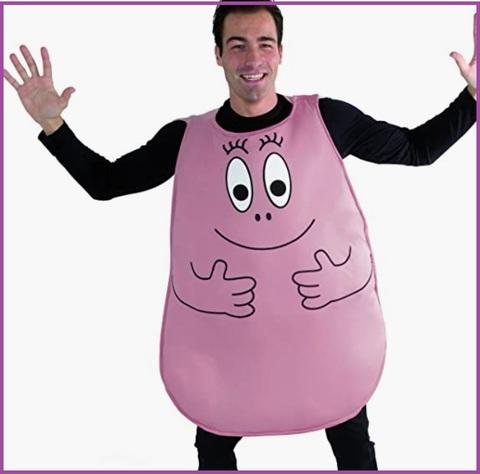 Costume intero barbapapà rosso