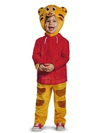 Costume intero di daniel tiger per bimbi