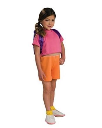 Costume intero per bambine di dora l'esploratrice