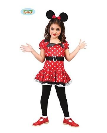 Costume di carnevale della famosa topolina minnie