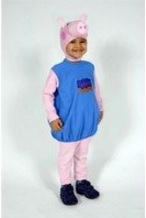 Costume intero di peppa pig colorato e intero