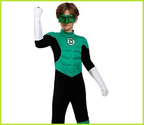 Costume supereroe lanterna verde con led